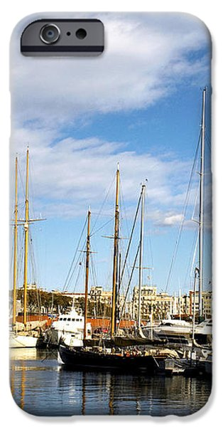 Boats in Port Vell iPhone Case by Fabrizio Troiani