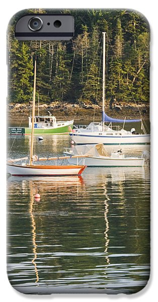 Sailboat Ocean iPhone Cases - boats In Tenants Harbor Maine iPhone Case by Keith Webber Jr