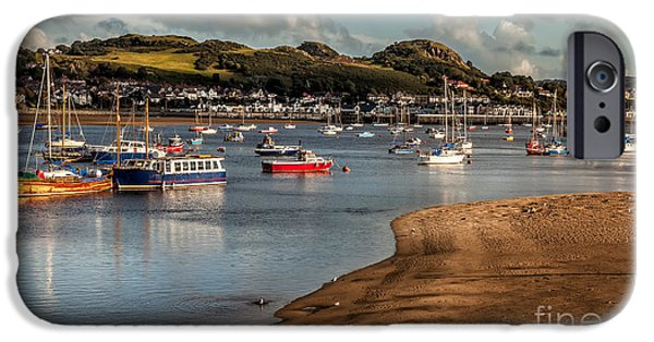 Mast iPhone Cases - Boats In The Harbour iPhone Case by Adrian Evans