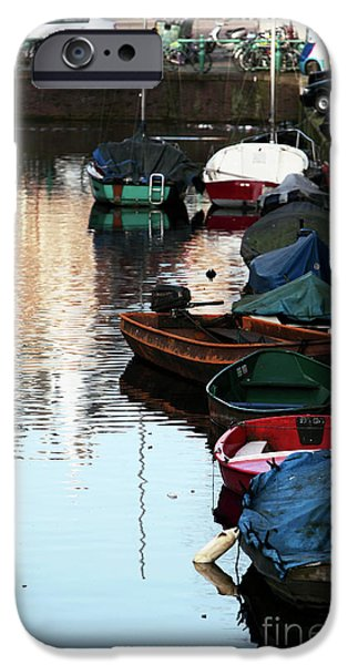Boats in the Red Light District iPhone Case by John Rizzuto