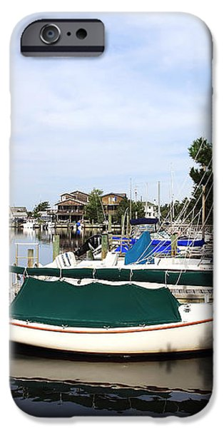 Boats of Long Beach Island color iPhone Case by John Rizzuto