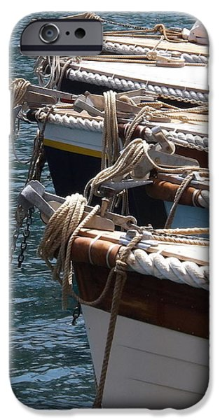 Transportation Tapestries - Textiles iPhone Cases - Boats of Porto Fino iPhone Case by Rose Owen