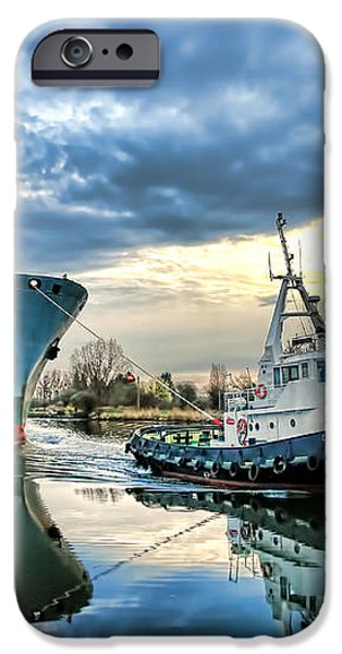 Boats on a Canal iPhone Case by Olivier Le Queinec