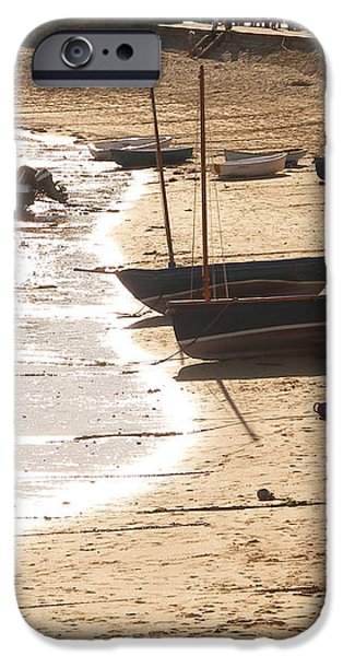 Boats on beach 02 iPhone Case by Pixel  Chimp