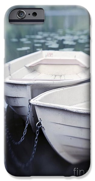 Boats iPhone Cases - Boats iPhone Case by Priska Wettstein