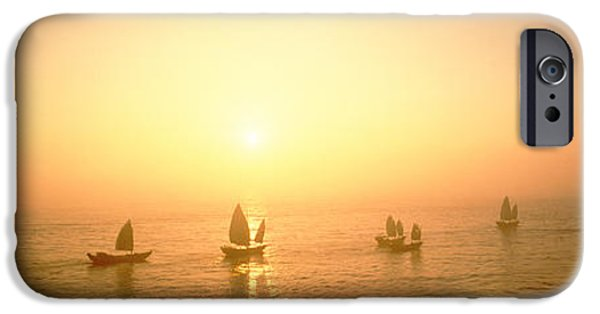Boat iPhone Cases - Boats Shantou China iPhone Case by Panoramic Images