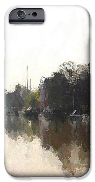 Boat Mixed Media iPhone Cases - Boats iPhone Case by Stefan Kuhn