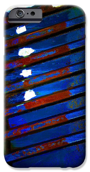 Abnormal iPhone Cases - Boatyard Abstract 14 iPhone Case by Newel Hunter