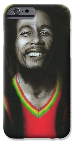 Musicians Framed Prints iPhone Cases - Bob iPhone Case by Christian Chapman Art