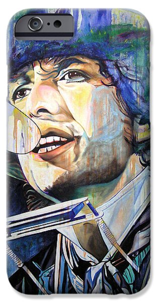 Bob Dylan Paintings iPhone Cases - Bob Dylan Tangled up in Blue iPhone Case by Joshua Morton