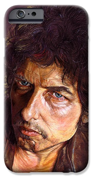 Bob Dylan Paintings iPhone Cases - Bob Dylan iPhone Case by Tim  Scoggins