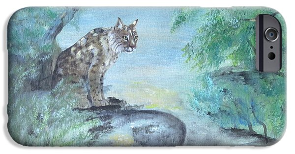 Bob Cats iPhone Cases - Bob  iPhone Case by Laurianna Taylor