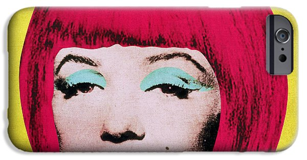 Hairstyle Digital iPhone Cases - Bob Marilyn  variant 1 iPhone Case by Filippo B