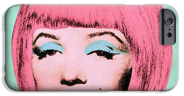 Hairstyle Digital iPhone Cases - Bob Marilyn  Variant 2 iPhone Case by Filippo B