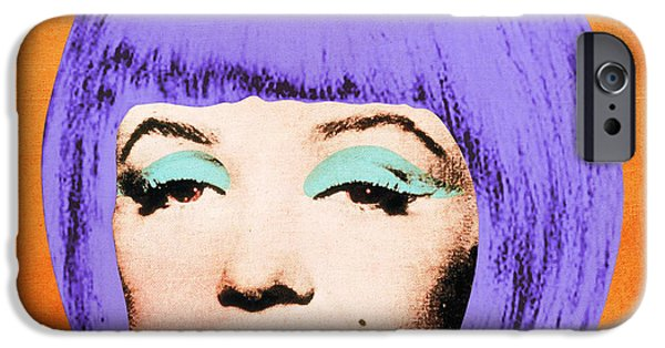 Hairstyle Digital iPhone Cases - Bob Marilyn Variant 3 iPhone Case by Filippo B