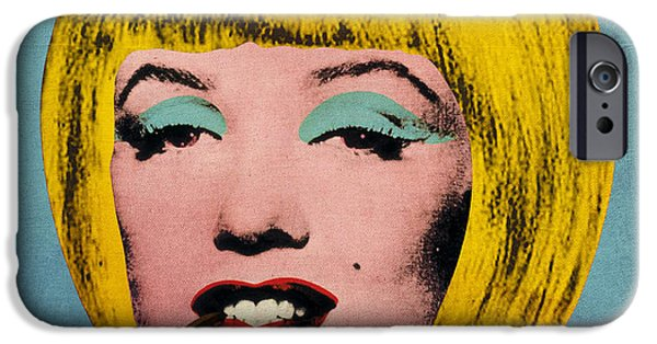 Hairstyle Digital iPhone Cases - Bob Marilyn  With Surreal Pipe iPhone Case by Filippo B