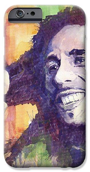 Bob Marley 02 iPhone Case by Yuriy  Shevchuk