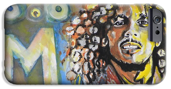 Child iPhone Cases - Bob Marley 03 iPhone Case by Chrisann Ellis