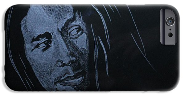 Summer Glass iPhone Cases - Bob Marley iPhone Case by Artyom Demidov