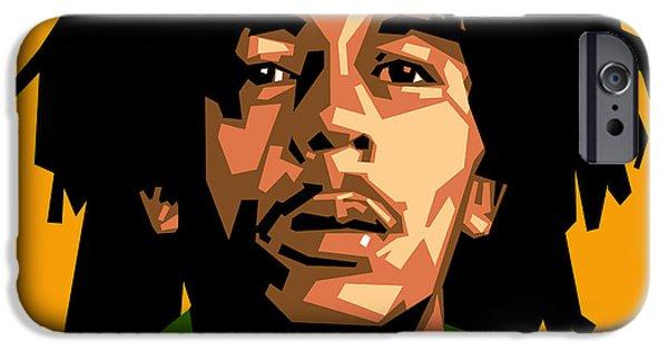 Jamaican Music iPhone Cases - Bob Marley iPhone Case by Douglas Simonson