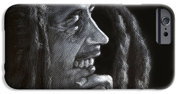 Bob Marley Portrait iPhone Cases - Bob Marley  iPhone Case by Fithi Abraham