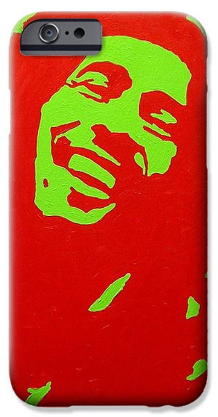 Warhol iPhone Cases - Bob Marley iPhone Case by John  Nolan