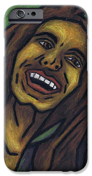 One Pastels iPhone Cases - Bob Marley iPhone Case by Kamil Swiatek