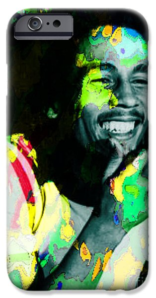 Michael Mixed Media iPhone Cases - Bob Marley iPhone Case by M and L Creations