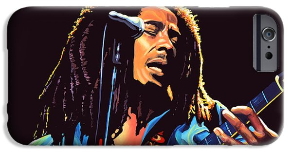 Stand iPhone Cases - Bob Marley iPhone Case by Paul  Meijering