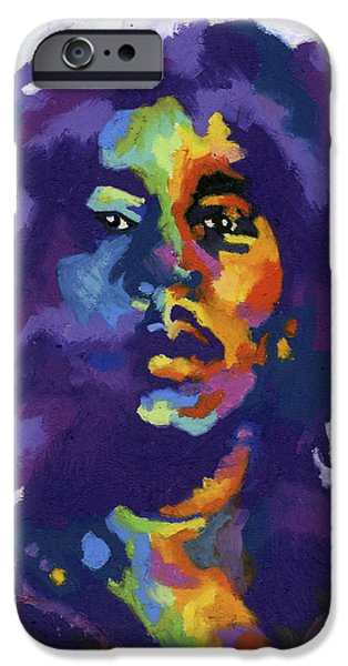 Bob Marley Portrait iPhone Cases - Bob Marley iPhone Case by Stephen Anderson