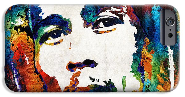 Joints iPhone Cases - Bob Marley Tribute 2 - Reggae Music Art By Sharon Cummings iPhone Case by Sharon Cummings