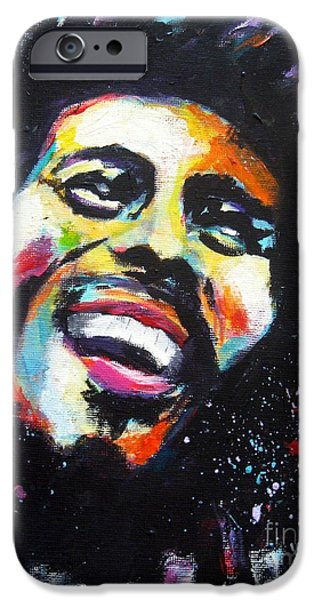 Best Buy Mixed Media iPhone Cases - Bob Marley iPhone Case by Venus