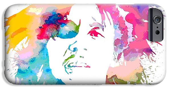 Revolution Mixed Media iPhone Cases - Bob Marley Watercolor Portrait iPhone Case by Dan Sproul