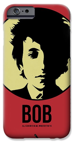 Singer Mixed Media iPhone Cases - Bob Poster 1 iPhone Case by Naxart Studio