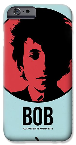 Singer Mixed Media iPhone Cases - Bob Poster 2 iPhone Case by Naxart Studio