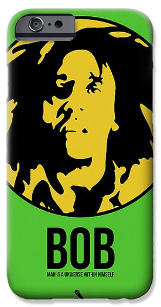 Joints iPhone Cases - Bob Poster 3 iPhone Case by Naxart Studio