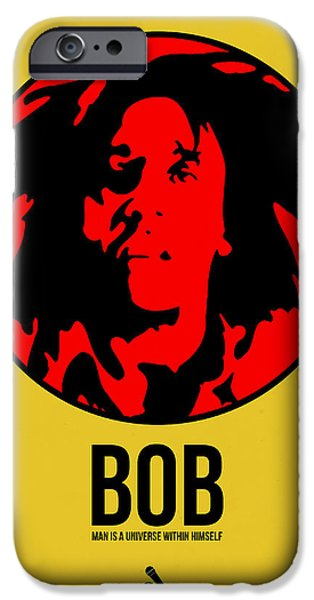 Joints iPhone Cases - Bob Poster 4 iPhone Case by Naxart Studio