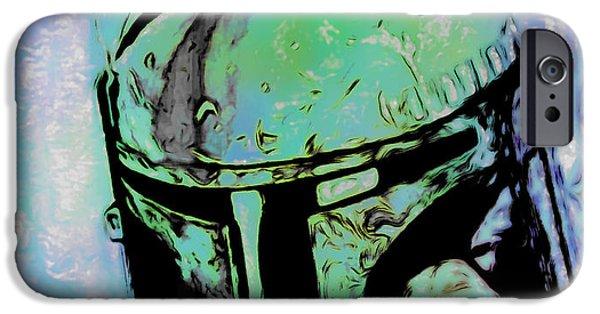 Walker Digital Art iPhone Cases - Boba Fett 2 iPhone Case by  Fli Art
