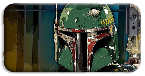 Fictional Star iPhone Cases - Boba Fett 2 iPhone Case by George Pedro