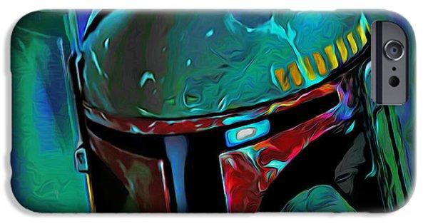 Walker Digital Art iPhone Cases - Boba Fett 3 iPhone Case by  Fli Art