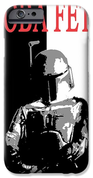 Scarface iPhone Cases - Boba Fett- Gangster iPhone Case by Dale Loos Jr
