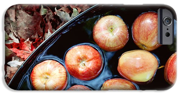 Apple Orchard iPhone Cases - Bobbing For Apples iPhone Case by Kim Fearheiley