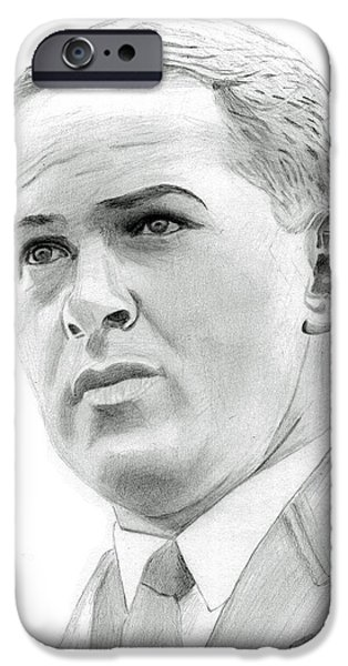 Us Open Drawings iPhone Cases - Bobby Jones iPhone Case by Pat Moore