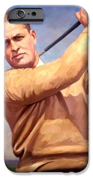 bobby Jones iPhone Case by Tim Gilliland