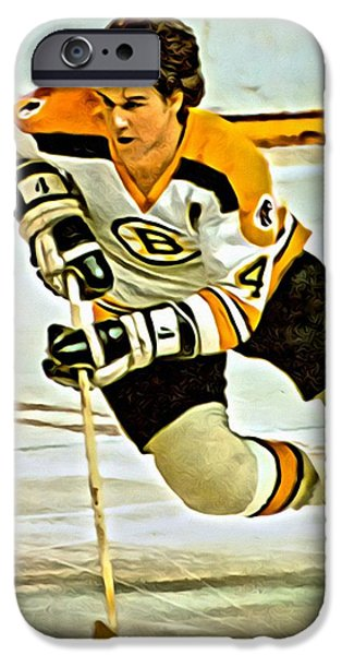 Bobby iPhone Cases - Bobby Orr iPhone Case by Florian Rodarte