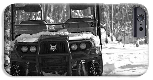 Bobcats iPhone Cases - Bobcat ATV In Winter iPhone Case by Dan Sproul