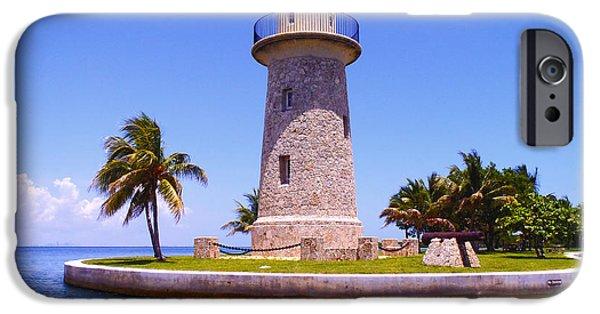 Regatta iPhone Cases - Boca Chita lighthouse iPhone Case by Carey Chen