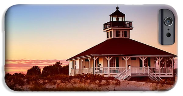 Charlotte iPhone Cases - Boca Grande Lighthouse - Florida iPhone Case by Nikolyn McDonald