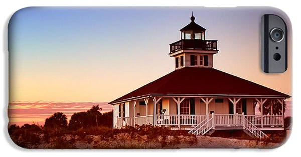 Charlotte iPhone Cases - Boca Grande Lighthouse - Florida iPhone Case by Nikolyn McDonald