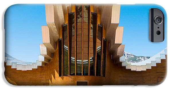 Winery Photography iPhone Cases - Bodegas Ysios Winery Building, La iPhone Case by Panoramic Images